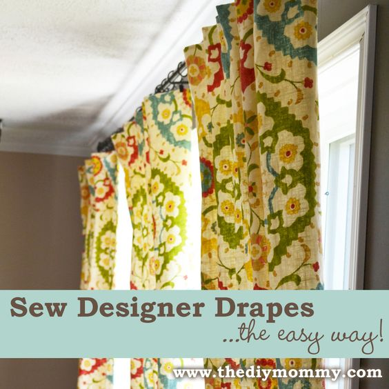 Sew Designer Drapes the Easy Way by The DIY Mommy - with blackout lining