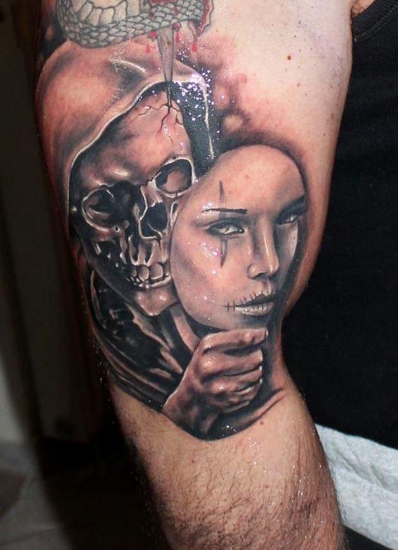 Skull Drama Face Tattoo: Afbeeldingsresultaat Voor Sugar Skull Couple Tattoo