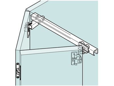 ... Kitchen Cabinets Ideas Top Hung Kitchen Cabinet Hinges : Leporello  Folding Two Door Overlay Top Hung ...