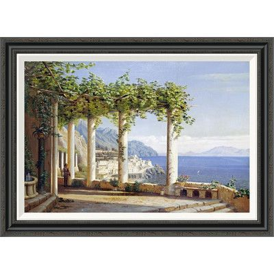 Global Gallery 'Amalfi Del Convento Dei Capuccini' by Eiler Rasmussen Eilersen Framed Painting Print Size: