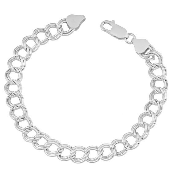 Sterling Silver 7.6-mm Classic Lite Charm Bracelet (7.5 Inch) * Read more at the image link.