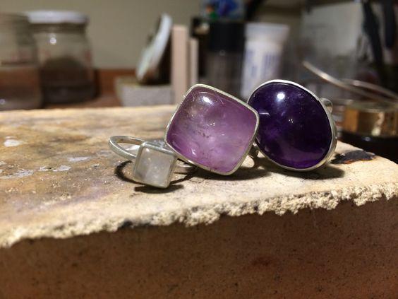 silver & amethyst