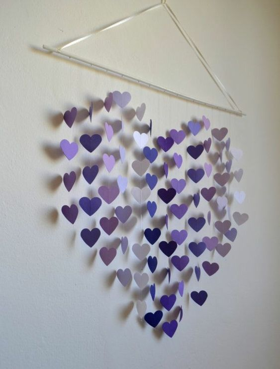 schöne #Wanddekoration in #lila #lavendel