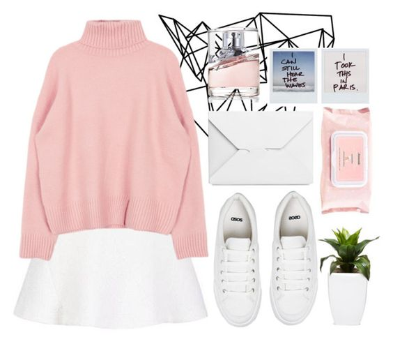 """老粉红色"" by lazyandboringgirl ❤ liked on Polyvore featuring Color Me, ASOS, J.W. Anderson, Mamonde, HUGO, StreetStyle, Pink, f4f and stylemoi"