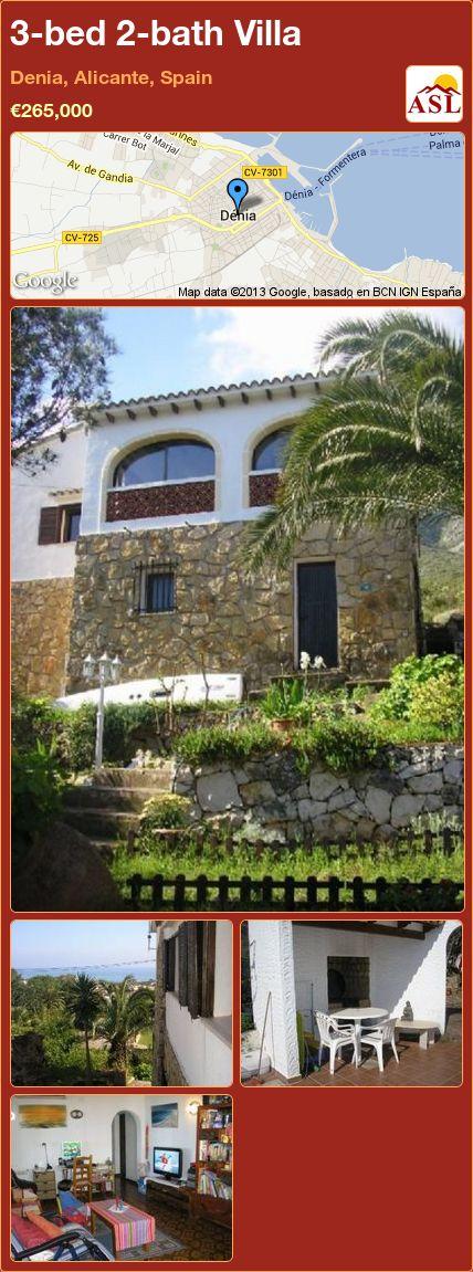 3-bed 2-bath Villa in Denia, Alicante, Spain ►€265,000 #PropertyForSaleInSpain