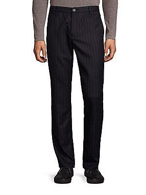 John Varvatos Hard Front Crease Pants - Black - Size 34 R