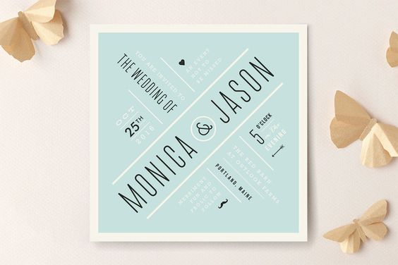 Divergence Wedding Invitations by Jennifer Wick at minted.com