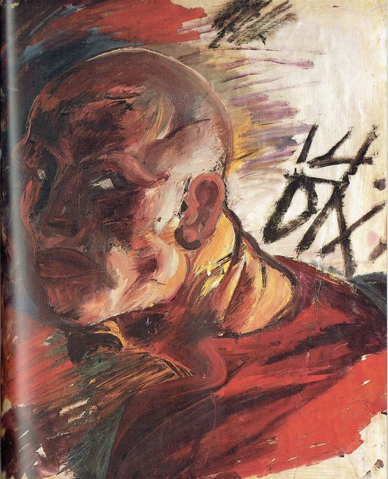 Otto Dix - Autoritratto come soldato, 1914