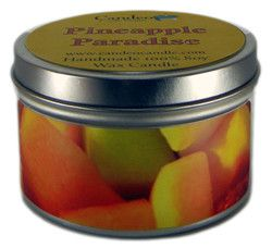 Pineapple Paradise, 6oz Soy Candle Tin