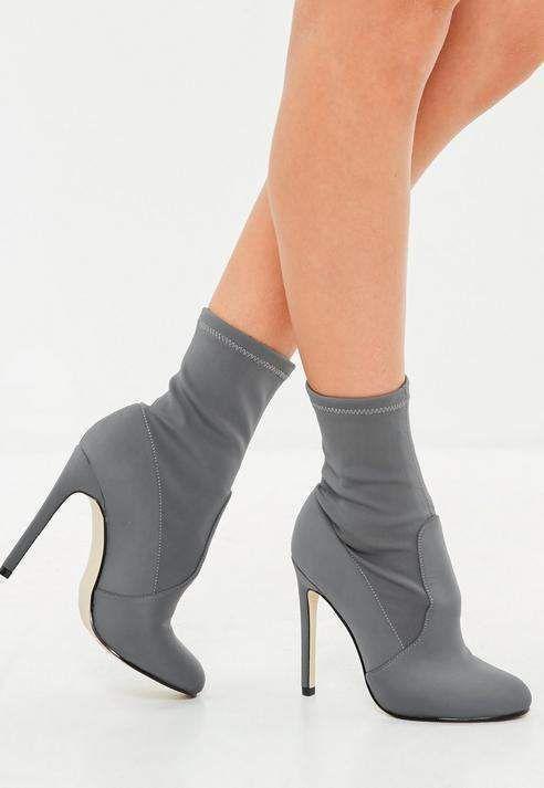 Gray Round Toe Stilleto Heels    afflink   Stilleto heels