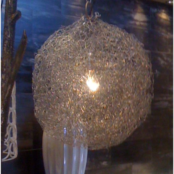Chicken wire light Products I Love Pinterest