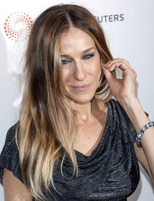 sarah jessica parker ombre hair color hairspiration
