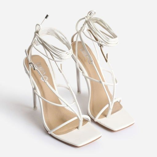 True Square Toe Lace Up Clear Perspex