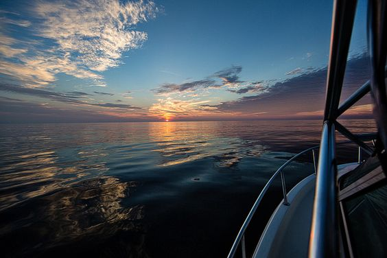 Sunrise capture during an Outer Banks offshore fishing trip.