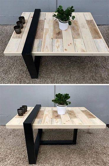 60 Tables Basses En Palette Pour Un Interieur Tendance Tables En Palettes De Bois Idee Table Basse Table Basse Palette