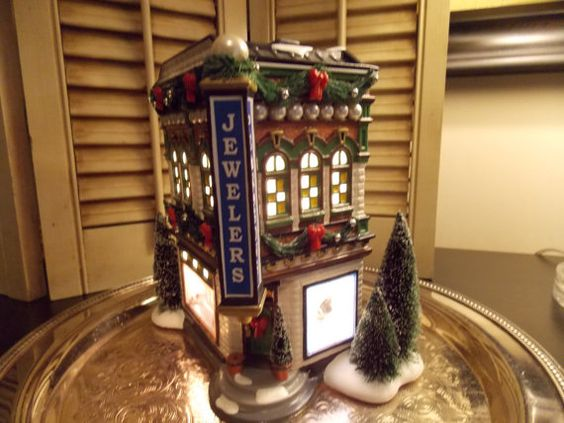 DEPT 56 HOUSES Pearlson's Jewelry Snow by VintageCreativeAccen