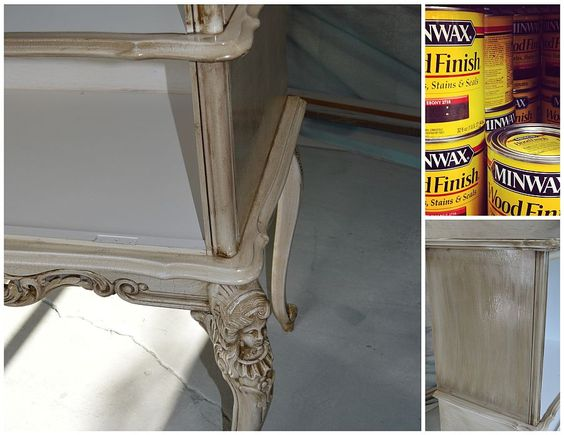 Furniture painting technique- crackle & antique gold « Furniture Painting Techniques « Alchemy Fine Living