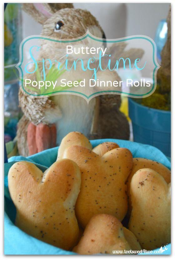 Buttery Springtime Poppy Seed Dinners Rolls