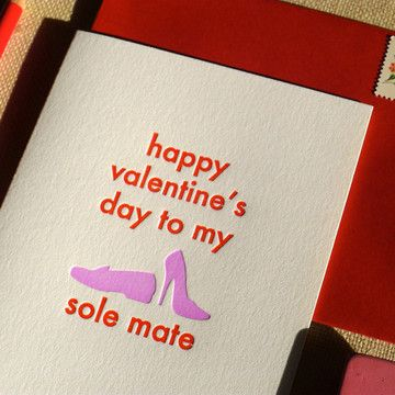 Valentine's Day card - I love shoes