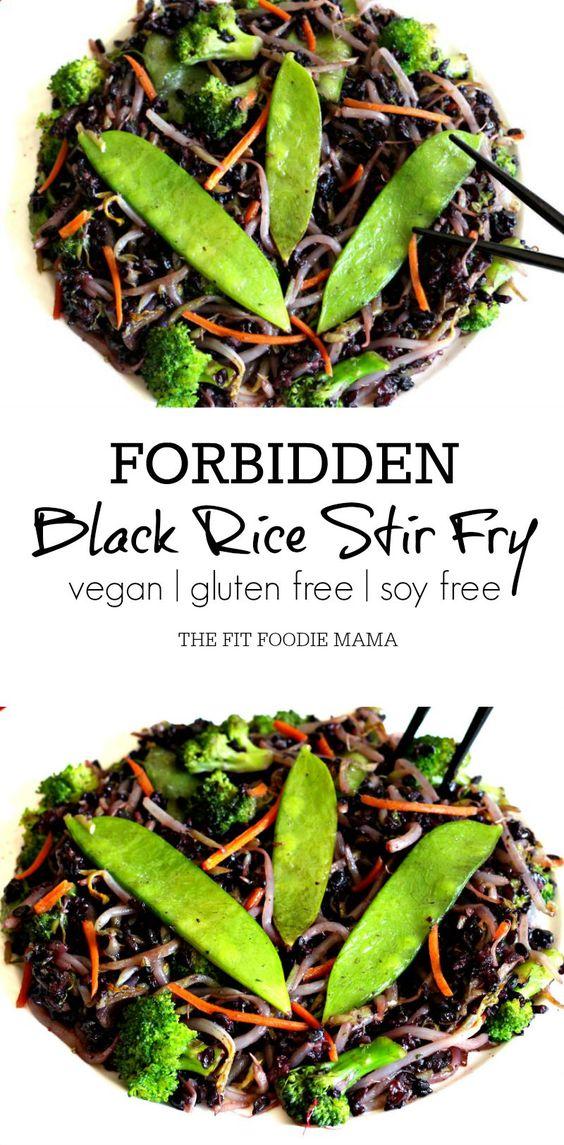 Meatless Monday: Fatigue Fighting Forbidden Black Rice Stir Fry {gluten free, soy free, vegan, low histamine diet, dinner, dinner recipe} | via @fitfoodiemama