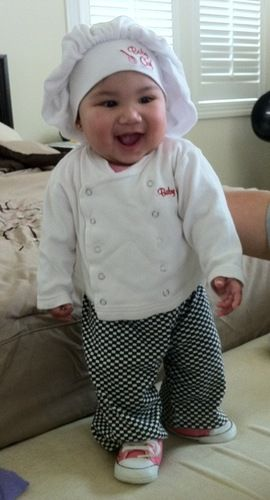 Baby costumes  sc 1 st  Pinterest & Halloween Chef Baby Costume...another possibility!?!? Too cute ...