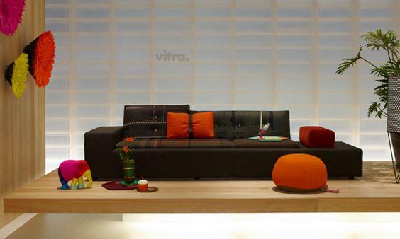 Milan furniture fair 2012.  Maharam Polder sofa