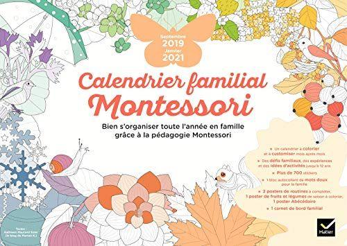 Calendrier 2019 Et 2021 Pdf Télécharger Calendrier familial Montessori septembre 2019