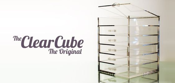 The Clear Cube | The Original | A must-have for make-up organization.