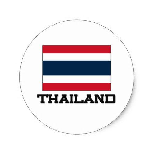 Thailand Flag Classic Round Sticker Zazzle Com Thailand Flag Flag Thailand