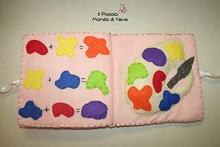 i colori primari e secondari.....impariamo dai libri di pannolenci!