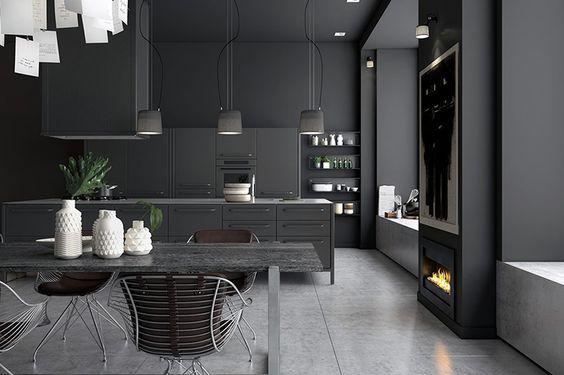 Donkere keukens: #Belgianstyle #kitchendesign #blackkitchen