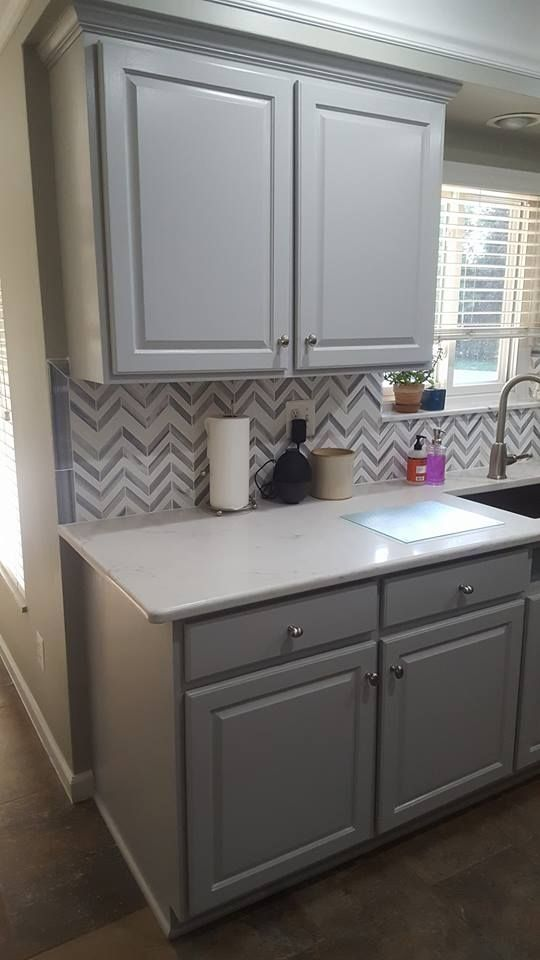 Golden Oak To Seagull Gray Kitchen Transformation Milk Paint