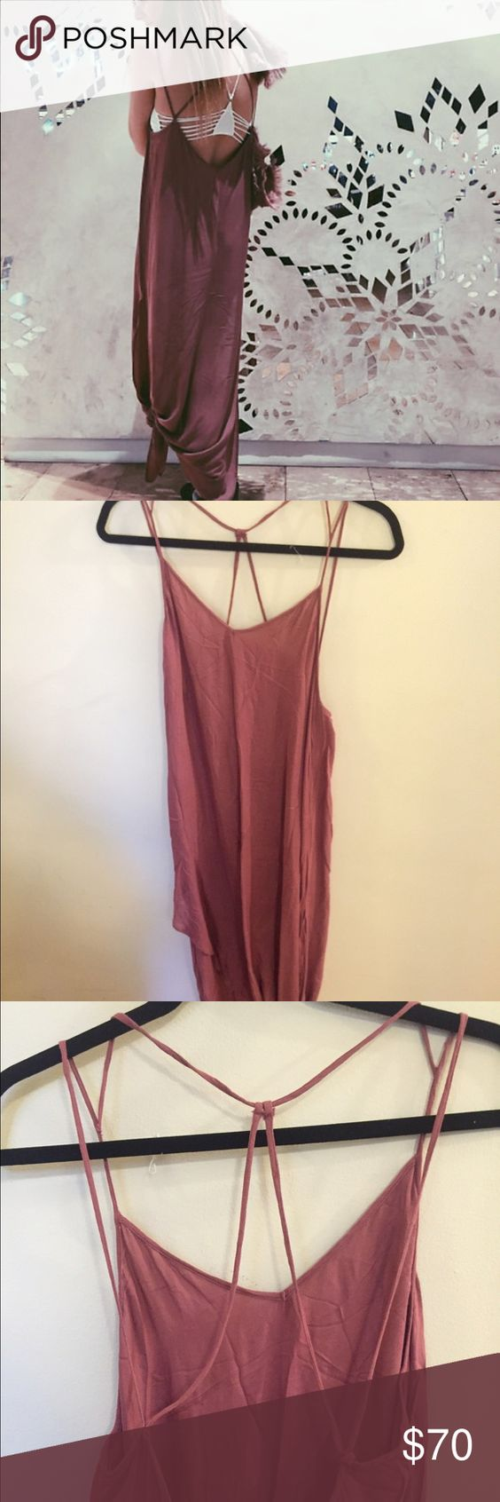 Free People Knotted Tie up Slip Only worn once. Still in excellent condition Free People Intimates & Sleepwear Chemises & Slips