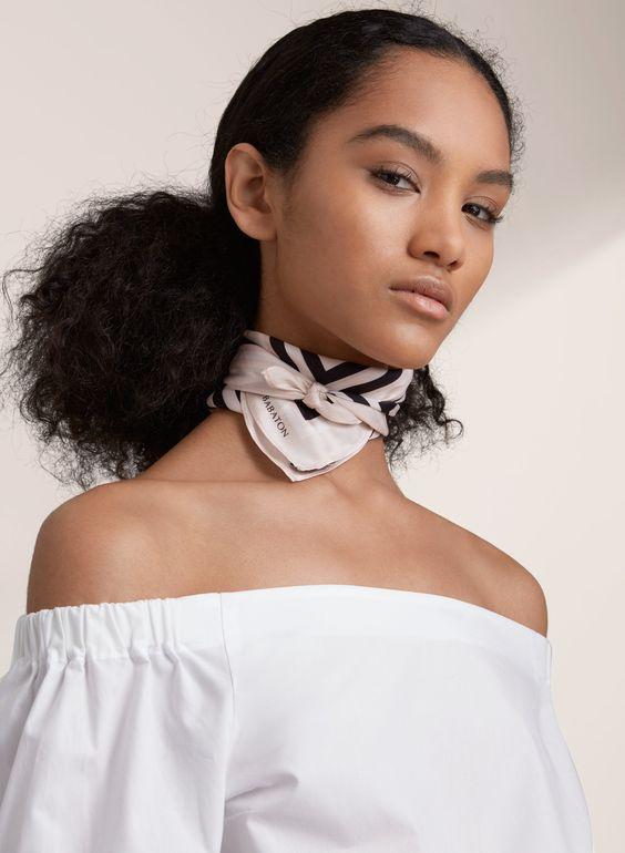 Silk scarf: