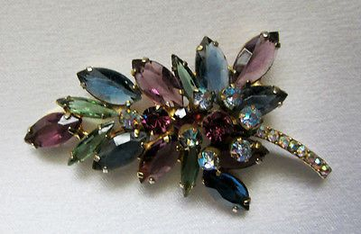 I am totally loving vintage Juliana Brooches these days!  Love!