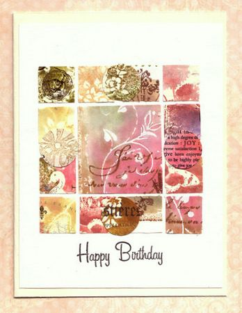 So very nice!  Very pretty colours!  Inchies in different sizes. This blog is devoted to inchie and grid cards