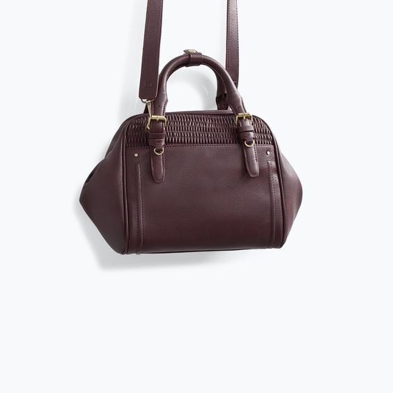 ZARA - SHOES & BAGS - BOWLING BAG WITH QUILTED DETAIL | Bags 2014 ...