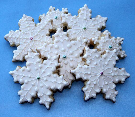 Elegant Snowflakes: Christmas Cookies Treats, Artisan S Snowflakes, Winter Cookies, Cookies Cakes, Christmas Snowflakes, Cookies Christmas, Christmas Snowflake Cookies