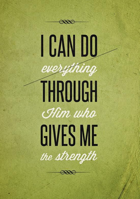 I can do everything through Him who gives me strength word art print poster black white motivational quote inspirational words of wisdom motivationmonday Scandinavian fashionista fitness inspiration motivation typography home decor