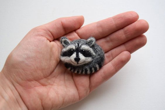 Hey, I found this really awesome Etsy listing at https://www.etsy.com/ru/listing/286694821/needle-felted-raccoon-brooch-wild-felted