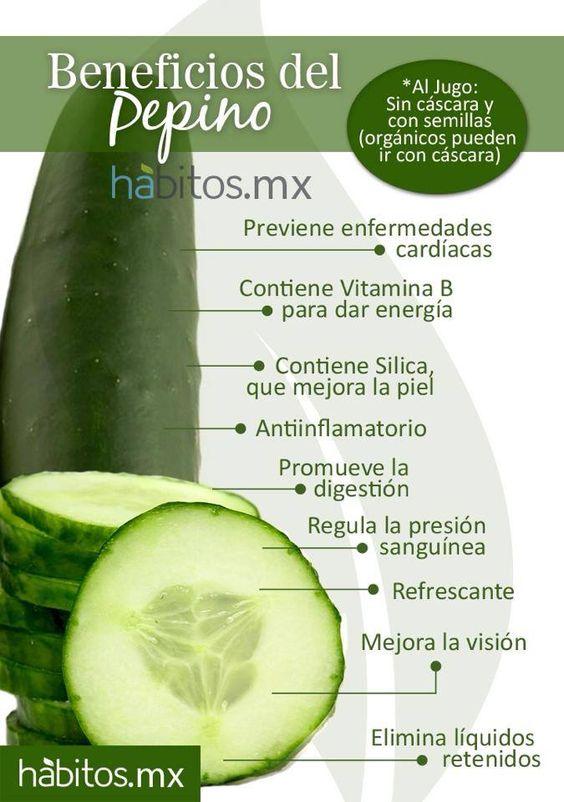 ¡Beneficios del pepino!:
