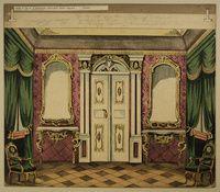 Königliches Kabinet. - Hintergrund. Nr. 17. / Festsaal - Hintergrund Nr. 6 http://skd-online-collection.skd.museum/en/contents/artexplorer?filter[OBJEKTART]=Bilderbogen