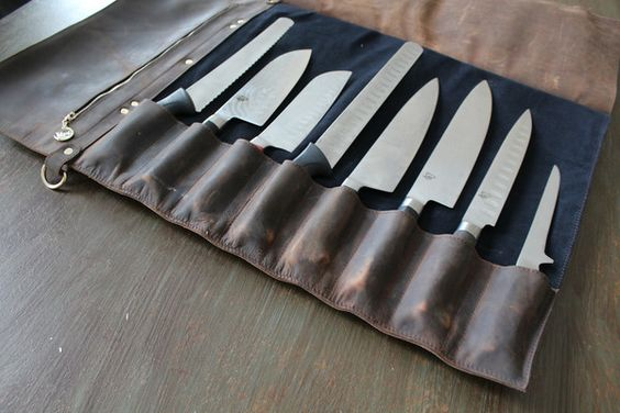 leather chef knife roll savage supply co pinterest leather chefs and chef knives. Black Bedroom Furniture Sets. Home Design Ideas