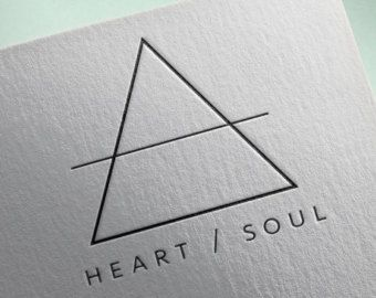 triangle logo design – Etsy
