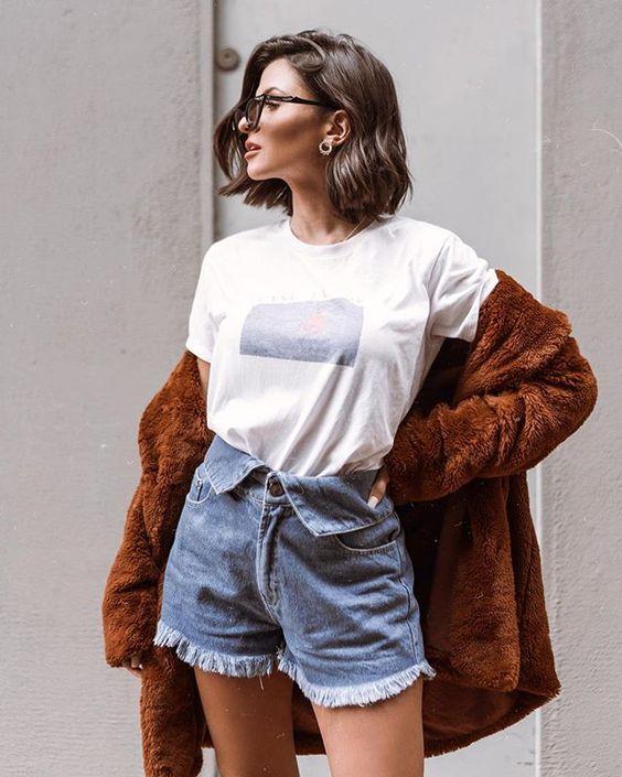 O short jeans mais estiloso do mundo. Instagram: @viihrocha #lookdodia #jeans