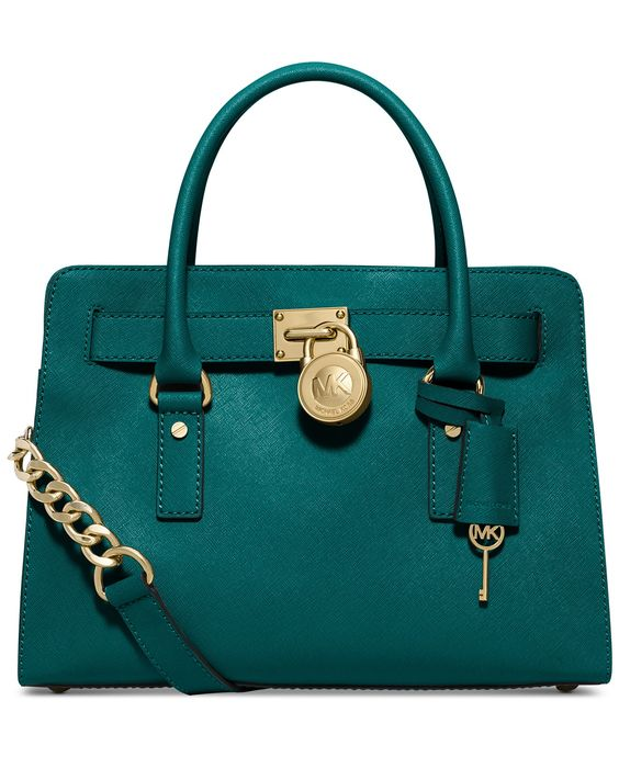 MICHAEL Michael Kors Hamilton Saffiano Leather East West Satchel - Michael Kors Handbags - Handbags & Accessories - Macy's