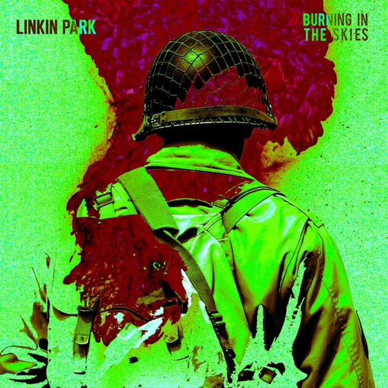 Linkin Park – Burning in the Skies (single cover art)