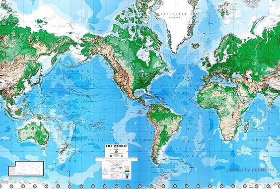 Huge physical World map wall mural, it's the one you might have seen on the wall at any Flight Centre. Comes in 8 easy to handle panels that go onto the wall like wallpaper, the paste is included in the package. Because of the panels, it can be hung either Pacific centered or Europe centered, depending on your preference.