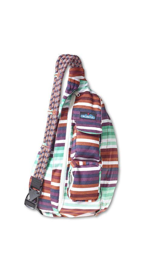 Kavu Rope Bag – Earth Stripe | CrossRoads Online