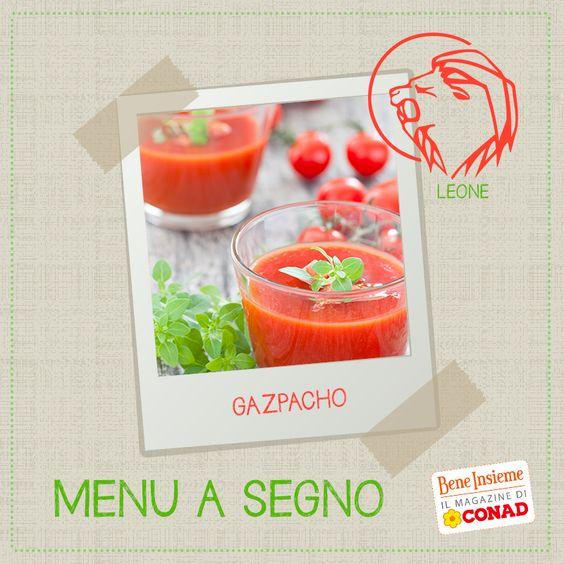 #Segno #zodiacale #LEONE. Il #gazpacho è una zuppa contadina di origine andalusa con un carattere forte, quello del #peperone, che è uno degli ingredienti principali: il piatto ideale per un cuor di leone!
